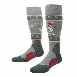Stance Get Slayed Snow Socks Grey Heather