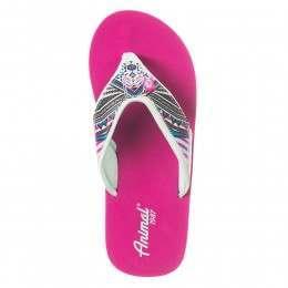 Animal Swish Upper AOP Sandals Berry Pink