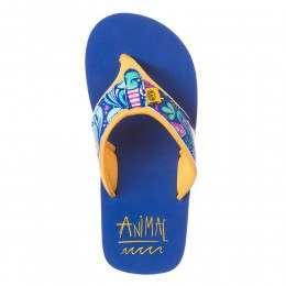 Animal Girls Swish Upper AOP Sandals Corn Blue