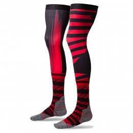 Stance Moto Dusk Moto Knee Brace Socks Red