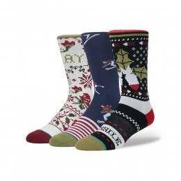 Stance Holiday 3 Pack Socks Multi