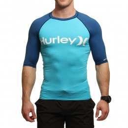 Hurley One & Only Short Sleeve Rashvest Beta Blue