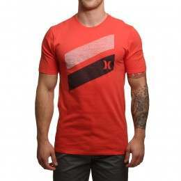 Hurley Icon Slash Push Through Tee Track Red
