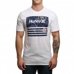 Hurley Borderline Fill Tee White