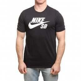 Nike SB Logo Tee Black/Black/White