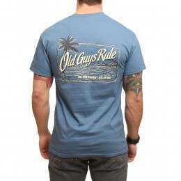 Old Guys Rule Vacation Palm Tee Indigo Blue