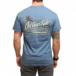 Old Guys Rule Vacation Palm Tee Indigo Blue