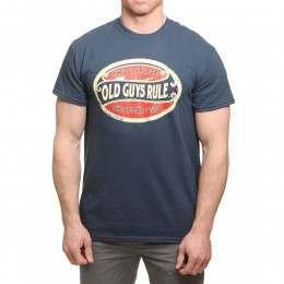 Old Guys Rule Better Oval Tee Blue Dusk