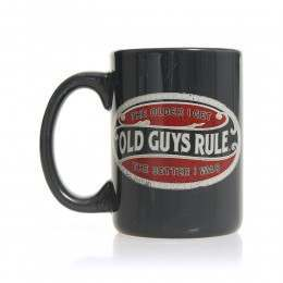 Old Guys Rule Better Oval Mug Lake Blue