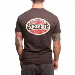 Old Guys Rule Better Oval Tee Chocolate