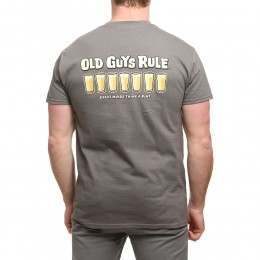 Old Guys Rule Think a Pint Tee Charcoal