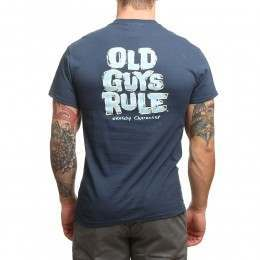 Old Guys Rule Sketchy Character Tee Blue Dusk