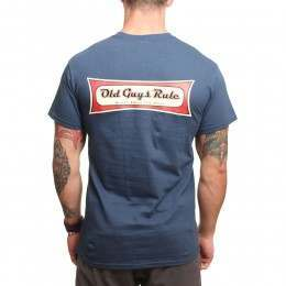 Old Guys Rule Blast From The Past Tee Blue Dusk