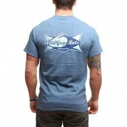 OLD GUYS RULE SURF ICON TEE Indigo Blue