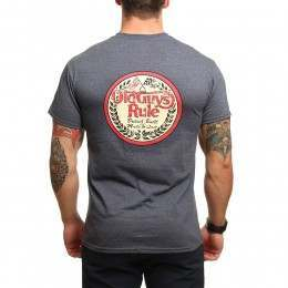 Old Guys Rule British Built Tee Heather Navy