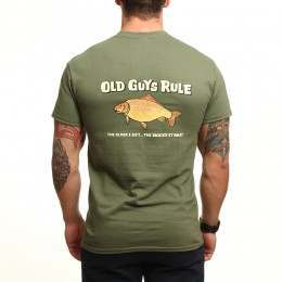 Old Guys Rule Bigger It Was Tee Military Green