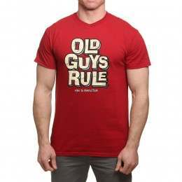 Old Guys Rule Age to Perfection Tee Cardinal Red