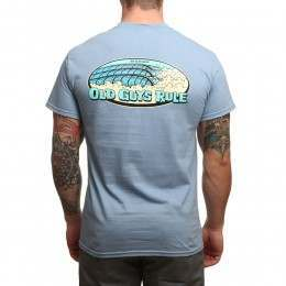 Old Guys Rule Set In My Waves Tee Stone Blue