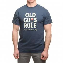 Old Guys Rule Improved with Age Tee Blue Dusk