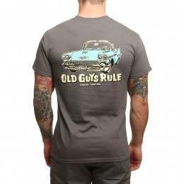 Old Guys Rule Cruise Control Tee Charcoal