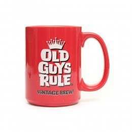 OLD GUYS RULE VINTAGE BREW MUG Red