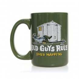 Old Guys Rule Shed Happens 2 Mug Green