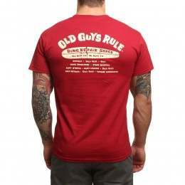 Old Guys Rule Ding Shack Tee Cardinal Red