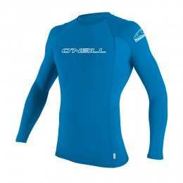 ONeill Kids Basic Skins Long Sleeve Rash Vest Blue