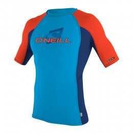 ONeill Kids Skins Short Sleeve Rash Vest Sky