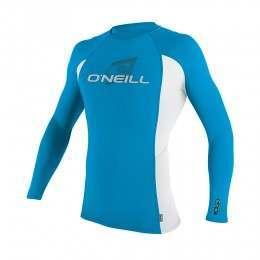ONeill Kids Skins Long Sleeve Rash Vest Sky