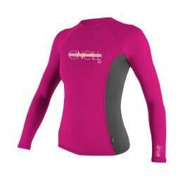 ONeill Girls Skins Long Sleeve Rash Vest Berry