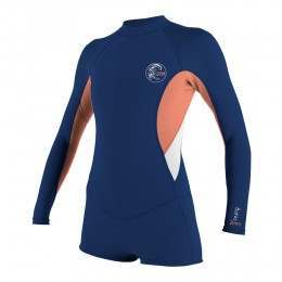 ONeill Womens Bahia Long Sleeve Shorty Wetsuit Nvy