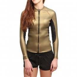 ONeill Womens Original Front Zip Jacket Gold