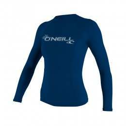 ONeill Womens Basic Skins Long Sleeve Rashvest Sea