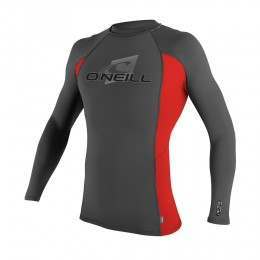 ONeill Skins Long Sleeve Rash Vest Grph/Red/Grph