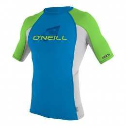 ONeill Youth Skins Short Sleeve Rash Vest Brtblu