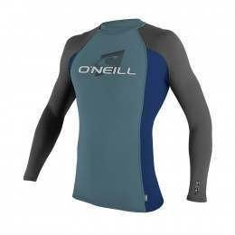 ONeill Youth Skins Long Sleeve Rash Vest Blu/navy