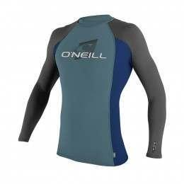 ONeill Youth Skins Long Sleeve Rash Vest Blu/navy