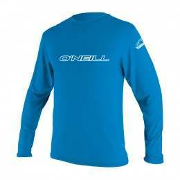ONeill Youth Basic Skins Long Sleeve Rash Tee Blue