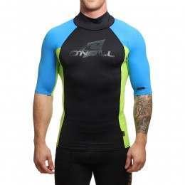 ONeill Skins Short Sleeve Turtleneck Rash Vest Lim