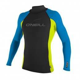 ONeill Skins Long Sleeve Turtleneck Rash Vest Lim