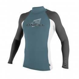 ONeill Skins Long Sleeve Turtleneck Rash Vest Blu
