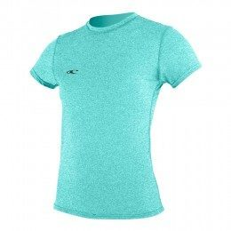 ONeill Womens Hybrid Short SLeeve Surf Tee Sea