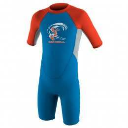 ONeill Toddler Reactor 3/2 Shorty Wetsuit Blu/Grey
