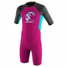 ONeill Toddler Reactor 3/2 Shorty Wetsuit Berry/Aq