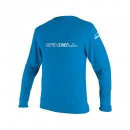 ONeill Youth Basic Skins Long Sleeve Rash Tee Blu