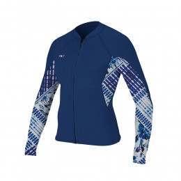 ONeill Womens Bahia Full Zip 1MM Wetsuit Jacket Nv