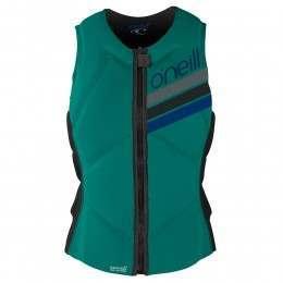 ONeill Womens Slasher Comp Impact Wakeboard Vest Cyan