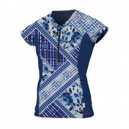 ONeill Womens Zipped Cap Sleeve Rash Tee Indpth/Nv