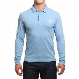 Oxbow Netherlee Long Sleeve Polo Shirt Fog Blue